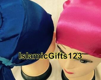 Hijab-Under scarf Accessory ,Hijab Caps--6 Pieces--Satin Bonnet,Scarf Caps,Abaya,Nakab**Free shipping ISLAMIC GIFTS 123 US Seller