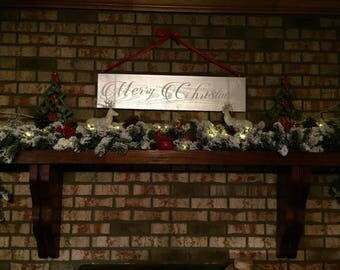 Merry Christmas  - Wooden sign - Christmas signs