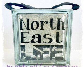 Glass Block Light - North East LIFE