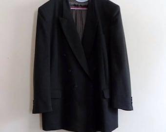 90s Gray Green Sports Coat by Andre Willard, Paris Size 48W 36L
