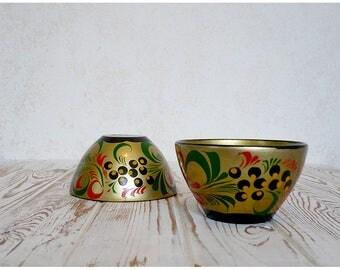 Set: Khokhloma, utensil (2 psc) / Хохлома, посуда (2 шт.)