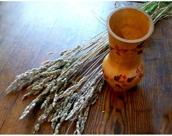Vase wooden, hand-painted / Ваза деревянная, ручная роспись