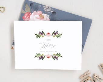 To My Mom on My Wedding Day Card. To My Dad Card. On Our Wedding Day. Mother of the Bride Card. From the Bride and Groom From the Bride Card