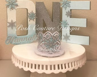 Ready to ship! Winter Wonderland decorations, ONE Snowflake letters, Snow Princess, Winter Onederland, Winter Baby Shower, Snowflake Photo S