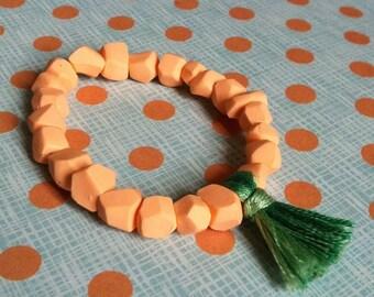 Geometric bracelet in pastel colors