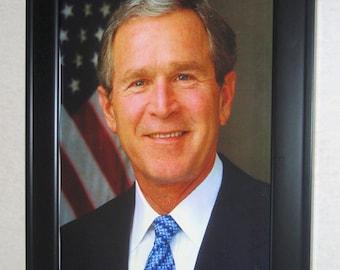 President George W. Bush Framed Print - Ships FREE