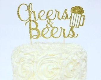 Cheers & Beers Cake Topper