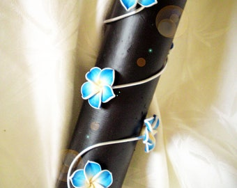 Aluminum and customize frangipani flowers bracelet