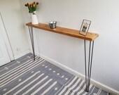 Custom Made Narrow Hall Table - 128.5 x 16cm x 86cm