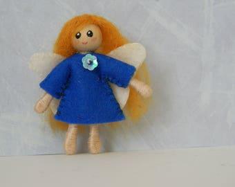 blue fairy pixie bendy doll, Christmas ornament
