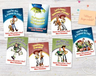 SAME DAY SERVICE! Toy Story Valentine's Day Cards for Kids - Personalized/You-Print