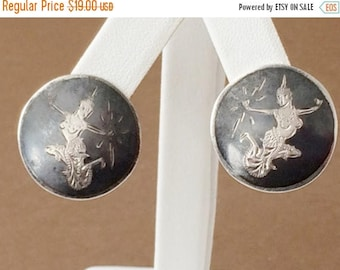 33% Off Christmas in July Sterling Silver Siam Clip On Earrings