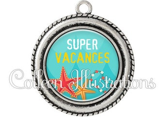 Pendant cabochons 25mm Super holiday - series 2