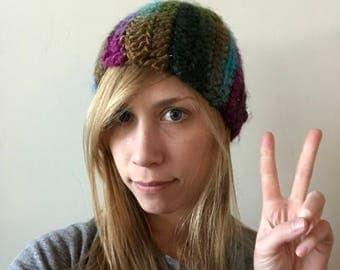 Rainbow Chunky Winter Hat