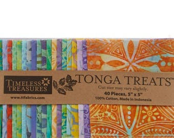 Tonga Treats Batiks - Tahiti Charm Pack  by Timeless Treasures for Timeless Treasures