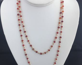 Carnelian Long Layering Necklace