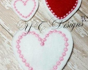 Fichier de broderie numérique coeur Feltie Valentin Feltie