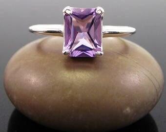 genuine amethyst ring, Amethyst Ring silver, amethyst sterling silver 925 ring, amethyst, ring size 3 4 5 6 7 8 9 10 11 12 13 women rings