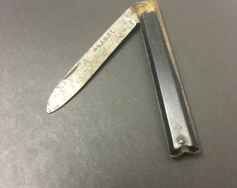 Pradel penknife brass steel and ebony ! Folding knife
