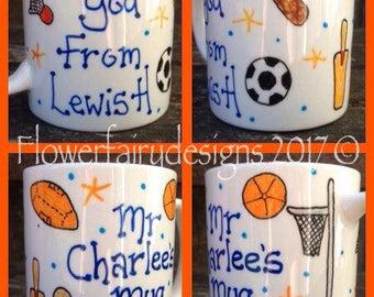 Thank you p.e teacher mug