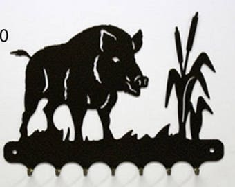 Hangs 26 cm pattern metal keys: boar