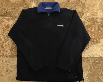 Vtg 90s NAUTICA COMPETITION Fleece Pullover Large Sweatshirt