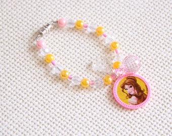 Belle | Girls Bead Charm Bracelet | Girl Fashion Jewelry | 3 Years - 5 Years | Ready To Ship | OOAK
