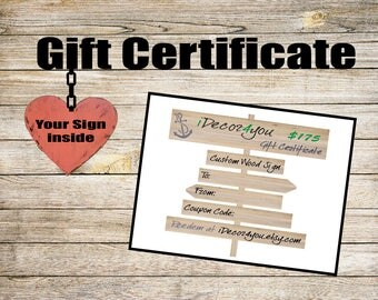Valentine's Day Gift Certificate Printable Gifts Card for Her, Gifts for Him, Teather Valentine Gift