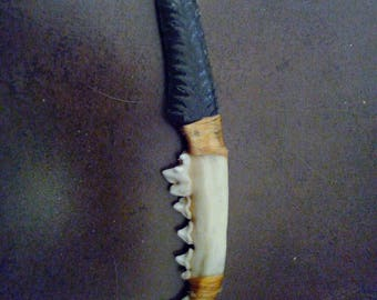 Native American style knife blade Obsidian