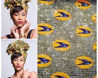 Turban Headband   Turban Wax head wrap   African Print Head Wrap   Printed headscarf   African print fabric   Head tie   Hair Accessory