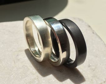 Solid Sterling Silver Ring / Men's Wedding Ring Band / Made in Australia