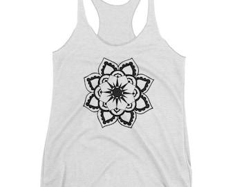 Sun Mandala Women's tank top, Mandala Tank, Mandala Shirt, Yoga Tank, Yoga shirt, workout shirt, gifts for women, gifts for her