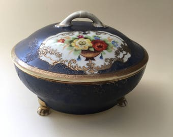 Noritake Porcelain Lidded Bowl
