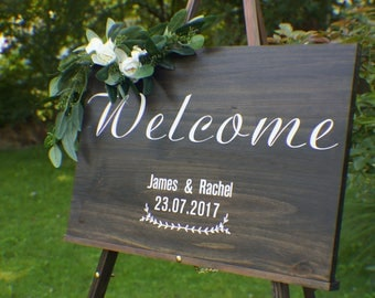 Wood wedding sign etsy junglespirit Images