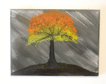 Lonely Tree acrylic painting on canvas