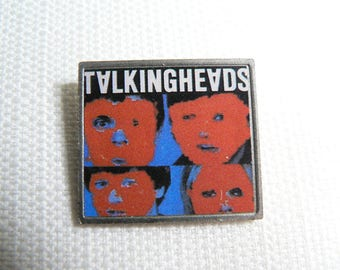 Vintage 80s Talking Heads - Remain in Light Album (1980) - Clubman Style Pin / Button / Badge