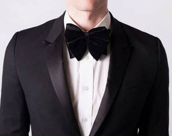 Blue & Black Velvet Bow Ties