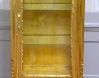 Baroque glass Cabinet antique style AlVi0807GoSHzBg