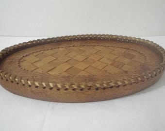 Decorative Wooden Oval Tray ~ Home Decor ~