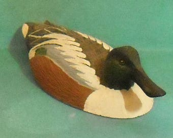 Miniature Shoveler Duck from the Wiliam J. Koelpin Collection of North American Ducks 1982