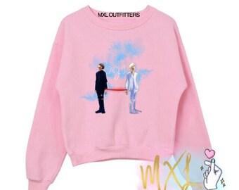 China Line Junhui & The8 My I kpop Seventeen Crewneck Sweatshirt (Design by Maiyumi00)
