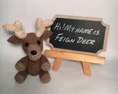 Reindeer Stuffed Animal -...