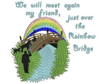 rainbow bridge machine embroidery design