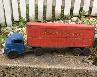 Vintage structo transport metal truck