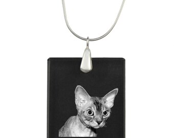 Devon rex,  cat Crystal Pendant, SIlver Necklace 925, High Quality, Exceptional Gift, Collection!