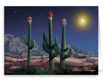 Three Wise Cacti Christmas Card - 18 Cards/ 19 Envelopes - 40024