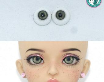 Mint-brown 14mm BJD Eyes
