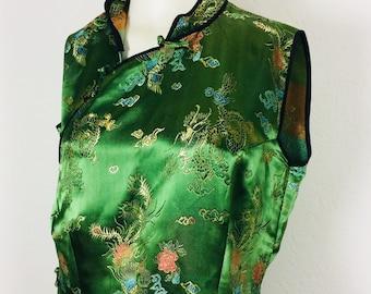 Kimonodress   vintage kimono   vintage kimonodress   vintage chinese dress   size M
