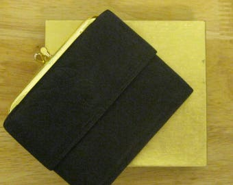 "Vinatge Rolf's Black Leather Wallet "" New with Box ""FREE SHIPPING"""