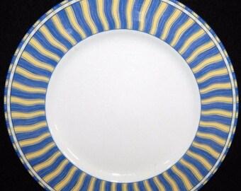 ON SALE Noritake SUMMER Waves 4096 Dinner Plate, Impromptu Line, Fine Porcelain, Excellent Condition